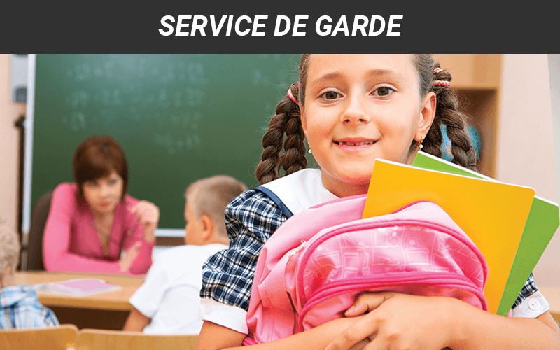 Service de garde en milieu scolaire