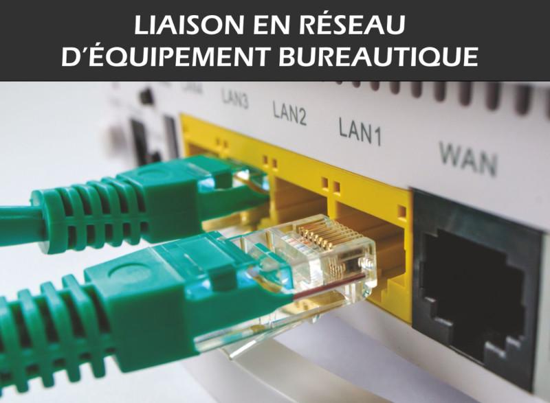 Liaison en réseau d'équipement bureautique