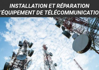 Installation et réparation d'équipement de télécommunication: DEP 5266